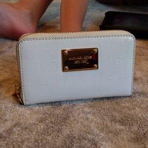 Michael Kors white patent wallet